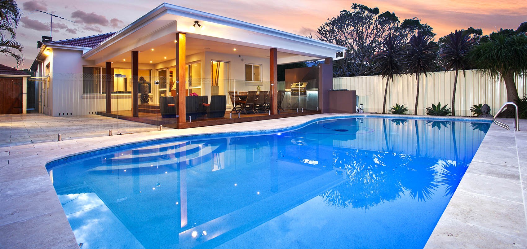 Tranquil Swimming Pool At A Luxury Property Custom Pool